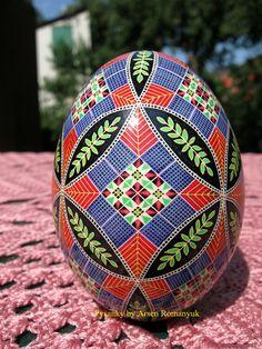 Goose egg pysanka by Arsen Romanyuk