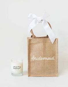 Ask your maid of honor to stand by your side with a meaningful gift. Wedding Things, Wedding Stuff, Dream Wedding, Wedding Day, Stand By You, When I Get Married, Meaningful Gifts, Reusable Bags, Here Comes The Bride