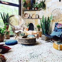 Love this greenery #boho #style