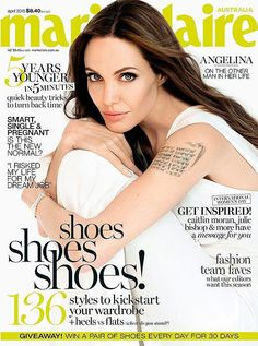 Angelina Jolie for Marie Claire Australia April 2015