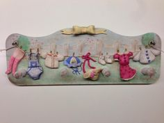 Laundry Scent hanger - fimo decorated