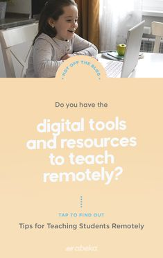 Tips for Teaching Students Remotely Christian School, How To Find Out, Remote, Students, Teacher, Feelings, Learning, Digital, Check