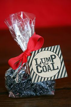 Lump of Coal Rice Krispies Treats, I'm sooo doing this!!
