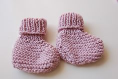 I can craft that!: Knitted Baby Booties