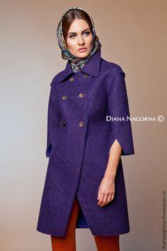 """Handmade felted coat / Верхняя одежда ручной работы. Ярмарка Мастеров - ручная работа. Купить Авторское пальто из мериносовой шерсти """" Judy """". Handmade."""