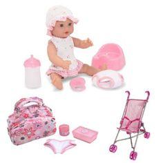 Brinquedo Melissa & Doug Annie - 12 Drink and Wet Doll with Diaper Bag and Stroller Set #Melissa & Doug#Brinquedo