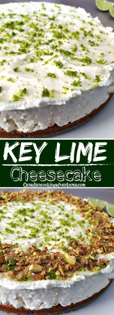 Craving Key Lime Cheesecake? My Key Lime Cheesecake is one of those easy to make - and is no bake ! #nobake #cheesecakefactory #keylime #recipenobake #recipeeasy #cheesecake #cake #dessert Easy No Bake Desserts, Homemade Desserts, Best Dessert Recipes, Easy Desserts, Delicious Desserts, Sweet Desserts, Pie Recipes, Yummy Recipes, Snack Recipes
