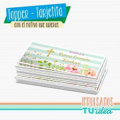 Comunión nena - Tarjetita souvenir comunión nena para imprimir