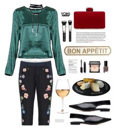"""Yoins.com: Bon Appétit!"" by hamaly ❤ liked on Polyvore featuring Pier 1 Imports, Marc Blackwell, Chanel, Givenchy, Bobbi Brown Cosmetics, shoes, ootd, bags, blouse and yoins"