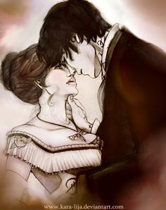 "Will and Tessa from Cassandra Clare's The Infernal Devices books, ""Stained"" - kara-lija, DeviantArt.com"