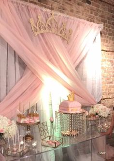 Options For Trouble-Free Beautiful Quinceanera Party Decorations Solutions - Great Party Princess Tiara, Princess Theme, Baby Shower Princess, Princess Birthday, Wedding Mirror, Wall Backdrops, Quinceanera Party, Wall Signs, Photo Wall Art