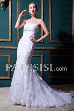 23 Ideas for wedding dresses modest mermaid shape Cheap Lace Wedding Dresses, Expensive Wedding Dress, Strapless Lace Wedding Dress, Wedding Dress 2013, Affordable Wedding Dresses, Classic Wedding Dress, Cheap Prom Dresses, Modest Dresses, Bridal Dresses