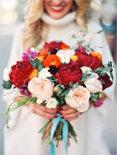 colorful wedding bouquet  THE LONELY BOUQUET in Denver, CO Violet Floral Design Sara Hasstedt Photography Lana's Shop