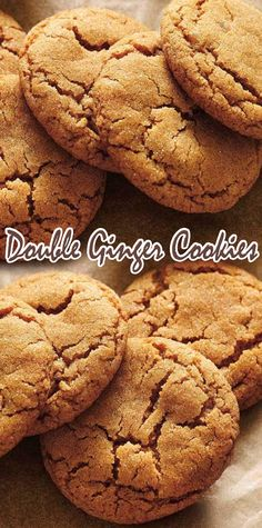 Ginger Cookies - The Healthy Recipes Carrot Cake Cookies, Coconut Cookies, Ginger Cookies, Yummy Cookies, Cupcake Cookies, Cupcakes, Homemade Cookies, Homemade Desserts, Fun Desserts