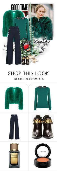 """""""Good time"""" by ksenia-lo ❤ liked on Polyvore featuring Yves Saint Laurent, Oasis, Chloé, Versace, Dolce&Gabbana, MAC Cosmetics, women's clothing, women's fashion, women and female"""