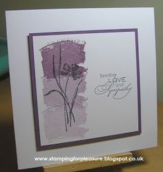 handmade sympathy card from Stamping For Pleasure ... monochromatic ... like the ombre effect of stamping off ... Stampin' Up!
