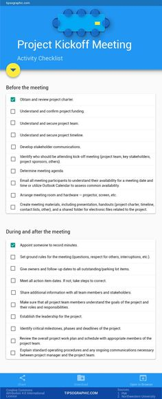 How to Plan Your Project Kickoff Meeting – an Easy Checklist - Tap the link now to Learn how I made it to 1 million in sales in 5 months with e-commerce! I'll give you the 3 advertising phases I did to make it for FRE Program Management, Change Management, Business Management, Management Tips, Business Planning, Brand Management, Business Analyst, Business Education, Business School