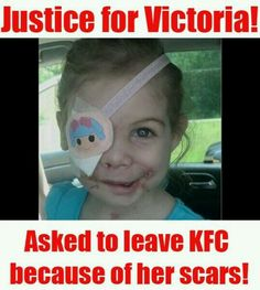 That's horrible she should get her KFC btw I'll never go to KFC again