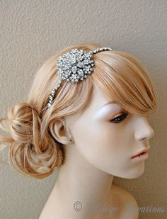 Wedding Headband  Vintage Inspired Rhinestone by MikiyeCreations, $110.00