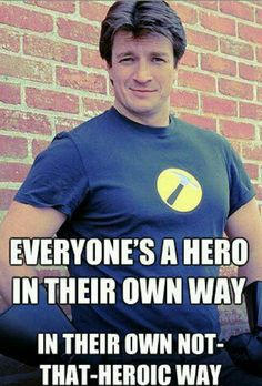 f07902c00d9 Horrible) Oh Nathan Fillion! I must get Captain Hammer shirt for my hubby  the carpenter