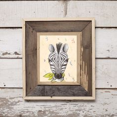 Party Animal Zebra/ Hand drawn 8x10 digital by SugarPixelsDesign