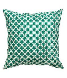 Katso! Painokuvioitu puuvillakankainen tyynynpäällinen. Piilovetoketju. – Käy hm.comissa katsomassa lisää.