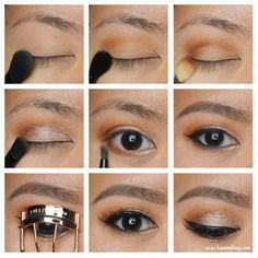 Party makeup using ABH Self Made palette tutorial - Kirei Makeup - Party makeup using ABH Self Made palette tutorial . Abh Eyeshadow Palette, Gold Eyeshadow, Basic Makeup Tutorial, Makeup Tutorial For Beginners, Makeup Tutorials, Omega 3, Party Makeup, Bridal Makeup, Makeup Geek