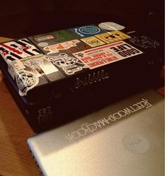 Stickered MacBook Peli Case via Macbook, Fashion, Suitcases, Moda, Fashion Styles, Mac Book, Fashion Illustrations