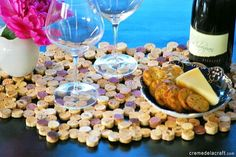 DIY project made from wine corks... and I just so happen to have a ton of them!