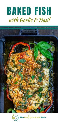 This recipe for Baked Fish is not only the tastiest but is easy to prepare and will wow all your friends and family! It makes a perfect dinner idea when your just not sure what to make! #bakedfish #fishrecipes #comfortfood Easy Mediterranean Recipes, Mediterranean Breakfast, Mediterranean Chicken, Greek Recipes, Fish Recipes, Seafood Recipes, Baked Fish, Country Cooking, Everyday Food