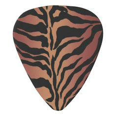 Warm Tiger Skin Animal Print Guitar Pick  #music #guitar