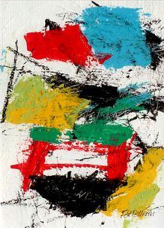 N°1281 Pat Pellerin. Acrylique et crayon gras sur carton toilé 30x40 cm.