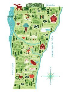 Vermont Map | Michael Mullan