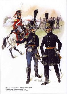 SOLDIERS- Courcelle: Belgian Artillery Horse and Foot 1815, by Patrice Courcelle.