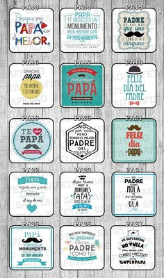 Etiquetas Autoadhesivas Frases Frascos Vasos Botellas X 55 - $ 79,90 Fathers Day Wishes, Fathers Day Crafts, Happy Fathers Day, Fathers Day Cupcakes, I Love My Father, Ideas Aniversario, Father's Day Greeting Cards, Daddy Day, Father's Day Diy