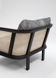 BuzziCane: Modern Seating with Traditional Woven Cane Backs - Design Milk Cane Furniture, Furniture For You, Furniture Decor, Modern Furniture, Furniture Design, Modern Sofa, Modern Armchair, Rocking Chair Bois, Glider And Ottoman