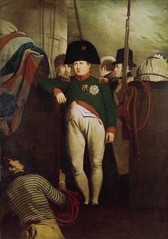 Napoleon on board HMS Bellerophon in Plymouth Sound, 1815