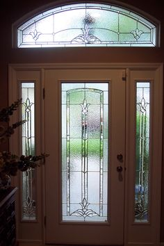 EntryPoint by Perrys takes your boring door and transforms it with custom decorative door glass that fits into your existing door. Our mobile workshop means your Entry Point Door is done in about an hour. Main Door Design, Front Door Design, Front Door Decor, Entry Door With Sidelights, Entry Doors, Glass Front Door, Glass Doors, Pop False Ceiling Design, Balcony Doors