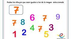 Estimular la Atención en los niños de 3 años. Rodea los iguales son un conjunto de 12 fichas dedicadas a Occupational Therapy, Letters, Math Equations, Activities, School, Dani, Counting, Special Education, To Tell