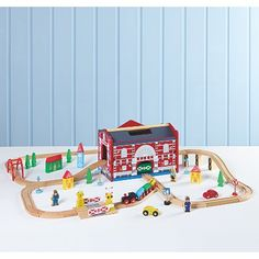 George Home Wooden Lights and Sound Train Set | Kids | George at ASDA