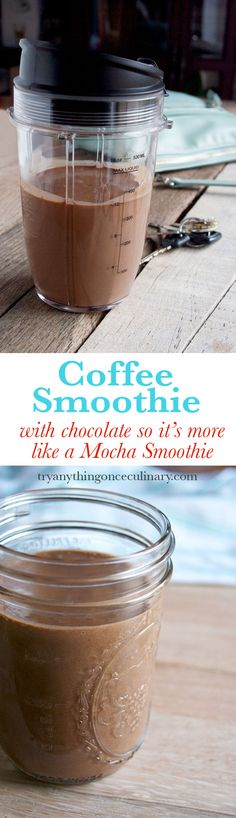 Coffee Smoothie (with chocolate so more like a mocha smoothie) A really good way for a not-morning-person to start the day! And another great addition to the morning for people who happen to like mornings.