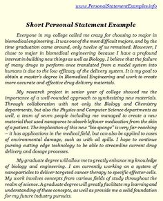 this page tells about short personal statement examples there is also mention about how short personal statement top quality examples can help you
