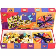 Bean Boozled Jelly Bellies - must give these as Christmas presents. There are beans that look exactly the same, but one is a yummy flavor and one is a yucky flavor. We bought a box on vacation and it was awesome/awful.