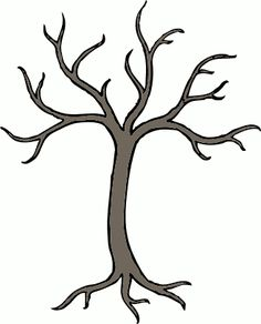 "Barren Tree Clip art. To use for ""tree"" crafts (button tree, etc)."
