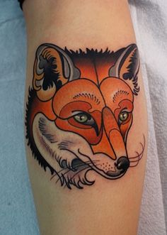 ~ New Traditional tattoo ~ fox by Dave Wah