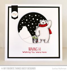 Larisa Hohman: Scrappychic17's Crafty Corner: I'm Back on the MFT Blog Today! - 12/1/16  (Pin#1: Dies/Stamps: MFT.  Pin+: Wintery Delights; Animals...).