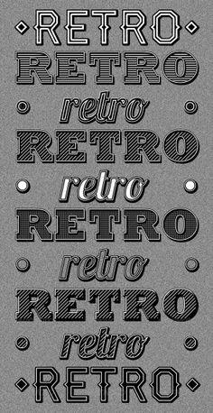 Retro Type Styles $4.00