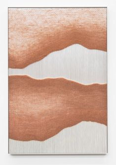"""Mimi Jung  RUST LIVE EDGE FORMS 3  Natural Fibers, Aluminum sheet and Aluminum Frame 44"""" x 30"""" x 2"""" 2018 Simple Doodles, Mountain Art, Aluminium Sheet, Hanging Pictures, Weaving Techniques, Furniture Collection, Frames On Wall, Installation Art, Japanese Art"""