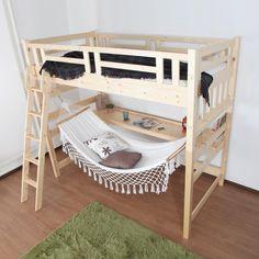 ロフトベッドの下にハンモック。くつろぎ空間ハンモック付ハイベッド。癒しの空間が楽しめるベッドです。 #ハンモック #ハンモックチェア #カフェ #カフェインテリア #カフェ風 #ハンモックカフェ #ソファ #ベッド #2段ベッド #ロフトベッド #ベッドルーム #子供…」