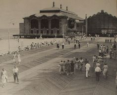 1950s ASBURY PARK CASINO and BOARDWALK New Jersey Black and White Photo